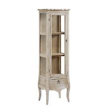 VITRINE Glasvitrine ♥Landhaus ♥  Shabby Chic ♥ Provence ♥ Antique weiß gewischt