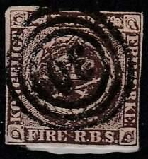 Denemarken gestempeld 1851 used 1 - Kroon in Krans (2) lees !!!!