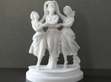 Crowned kores from the Greek mythology Decorative Alabaster statue 5.90in/15cm
