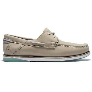 Timberland Atlantis Break Boat Shoe Light Taupe Nubuck Herren Leder Boot Schuhe