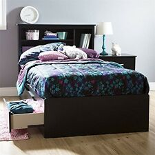 """South Shore Fusion Twin Mates Bed (39"""") with 3 Drawers, Pure Black"""