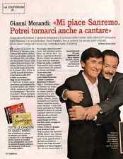 Q33 Clipping-Ritaglio 2012 Gianni Morandi: mi piace Sanremo, potrei tornarci...