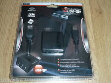 SONY PLAYSTATION 3 PS3 USB MEDIA MEMORY CARD READER & USB HUB EXTENSION NEW! PC