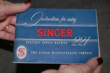 Comprehensive Instructions Manual CD for Singer Featherweight 221 Sewing Machine