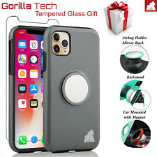 Silicone Back Case and Full Cover Tempered Glass For iPhone 11 Pro Max XS XR New