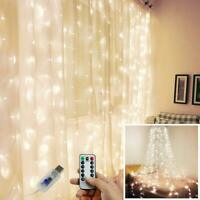 300 LED String Light Wall Curtain USB Fairy Lights+Remote Control Indoor Decor