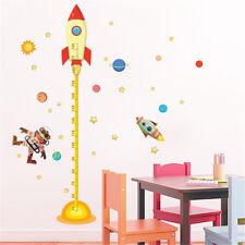 Sticker mural mesure de hauteur autocollant famille planète spatiale l'espace IT