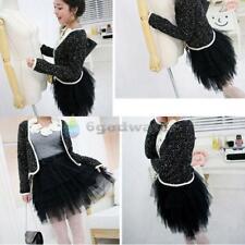 Cute Girl's Full Tutu Tulle Tier 5 Layers Skirts Mini Short Dress Dresses Black