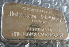 OLD JOHNSON MATTHEY LONDON -  100g GRAM 999 FINE SILVER BULLION BAR