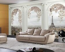 3D Balcony European City TV Background Self adhesive Wallpaper Murals Home Decal