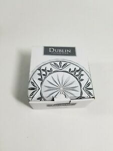 Set of 4 Godinger Dublin Collection Crystal Coasters 4 Inch Open Box