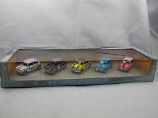 Cararama - 5 x Mini Cooper Rally/rally en el set-racing mini, 1/43 OVP