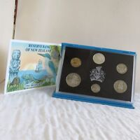 NEW ZEALAND 1993 6 COIN  PROOF YEAR SET WITH SILVER $2 KINGFISHER - sealed/coa