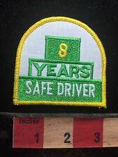 8 YEARS SAFE DRIVER Patch - Truck Driving Safety Yellow & Green & White C75L