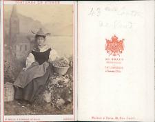 AD.Braun, canton de Vaud, costumes suisses Vintage CDV albumen carte de visite