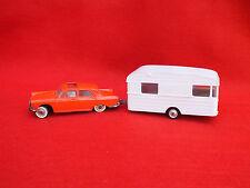 Norev Plastigam - Echelle 1/43è - Peugeot 404 et sa Caravane Panoramic 14 Digue