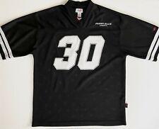 Rare Perry Ellis America #30 Medium Men's Black Sewn Football Jersey