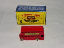MATCHBOX SERIES No.5 - DOUBLE DECKER BUS - REPRO BOX - UNBESPIELT IN OVP