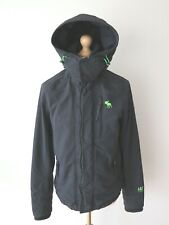 Abercrombie & Fitch All Season Weather Warrior Men's Hooded Jacket Navy Size M
