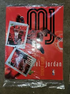 Lot of 2 Sealed 1998 UPPER DECK sticker album MICHAEL JORDAN