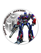 TRANSFORMERS Edible Image Personalised Birthday cake Decoration Party Topper