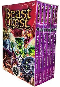 Beast Quest Series 5 - 6 Books Young Adult Collection Paperback By Adam Blade