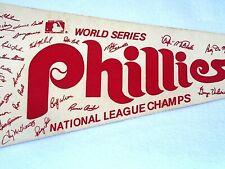 "1980 PHILADELPHIA PHILLES WORLD SERIES NATIONAL LEAGUE CHAMPS PENNANT 30"""