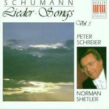 PETER SCHREIER/NORMAN SHETLER - SCHUMANN-LIEDER VOL.3-RÜCKERTLIEDER/+  CD  NEU