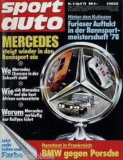 sport auto 4/78 1978 Citroën CX 2400 GTI 280 E Rover 3500 HAT BMW 320 450 SLC 5.