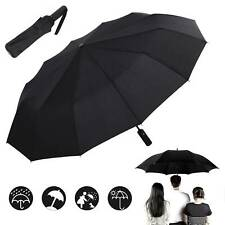 Windproof 12 Ribs Strong Automatic Umbrella Umbrella Folding Compact Travel UK