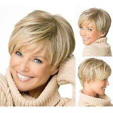 Sliver Crop Pixie Cut Head Wig Short Blonde Costume Party Hair Full Wigs Gifts