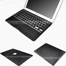 Black Carbon Fiber 3D Skin Sticker Cover Case Protector for MacBook Air 13 A1466