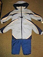 ROTHSCHILD  girls 4 X SMALL XS Baby Blue 3 peice snowsuit lot coat Jacket pants