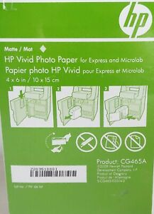 HP 4 x 6 MATTE Vivid Photo Paper for Express and Microlab CG465A 180 Sheets