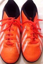 ADIDAS - scarpe da calcetto - colore arancione e nero - N 38,5 - stringate USATE