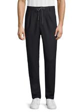 NWT Men's Brunello Cucinelli Wool Drawstring Pants Navy Italy $800 IT54 US38