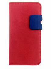 red Wallets skin style Case Cover with Card Slots for Apple iPhone 5/5S/SE UK