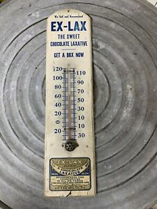 RARE Antique Ex-Lax Thermometer- Wood-Dorfmann Bros. NY 1920s- For Children WOW