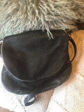 HUGE Cross Body Shoulder Grain Leather Black Bag Slouch JACKY and CELINE