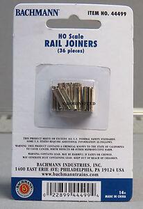 BACHMANN TRAIN HO E-Z TRACK RAIL JOINERS 36 pcs scale connectors pins 44499 NEW
