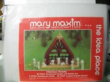 CHRISTMAS NATIVITY NEEDLEPOINT STABLE MARY MAXIM KIT CHRISTMAS MANGER 37444 NEW