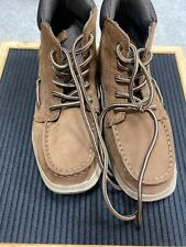 Sperry Top Sider Youth Boys 1M Brown Lanyard Lace Up Boots Leather