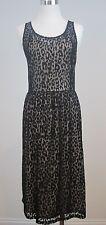 Lane Bryant Cocktail Dress Black Nude Sleeveless Animal Print Sheath Size 16