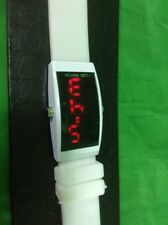 White Silicone Bijoux Terner Watch LED Verticle Display