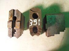3 Backen Blockbacken Aufsatzbacken f. Dreibackenfutter Drehmaschinenfutter #0391