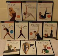 10 Gaiam workout DVD lot yoga Pilates stretch ana caban suzanne deason for women