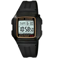 Casio Dual Time Illuminator Quartz Digital Mens Sports Watch F-201wa-9a F201wa
