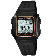 Casio Dual Time Illuminator Quartz Digital Mens Sports Watch F-201wa-9a F201wa