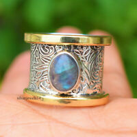 Labradorite solid 925 Sterling Silver Band Ring Handmade Jewelry sg23