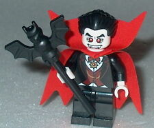 HALLOWEEN #09 Lego Vampire  w/ Red Cape & Bat staff  NEW Genuine Lego  8684